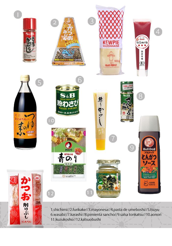 salsas y aderezos japoneses