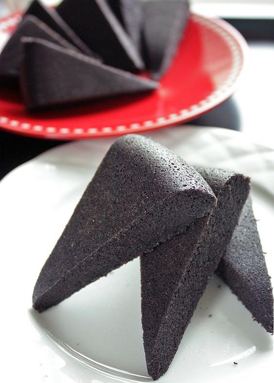 tarta de sésamo negro