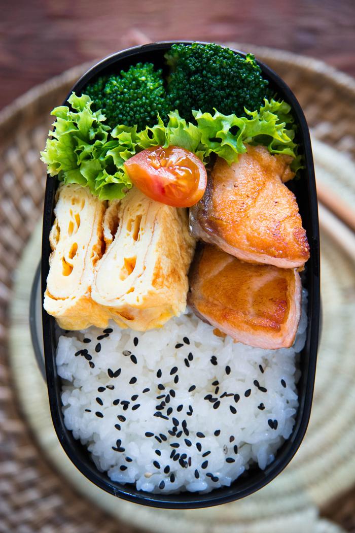 salmon-bento