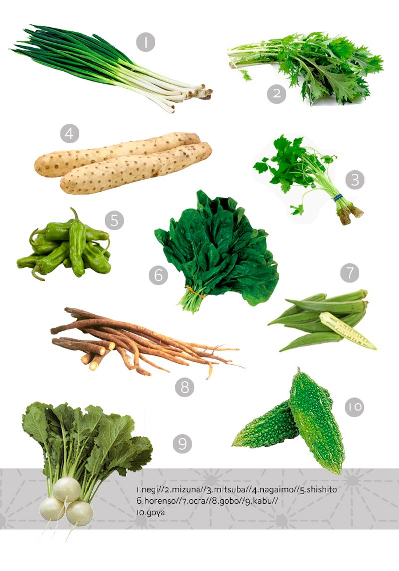 las verduras en la cocina japonesa 2