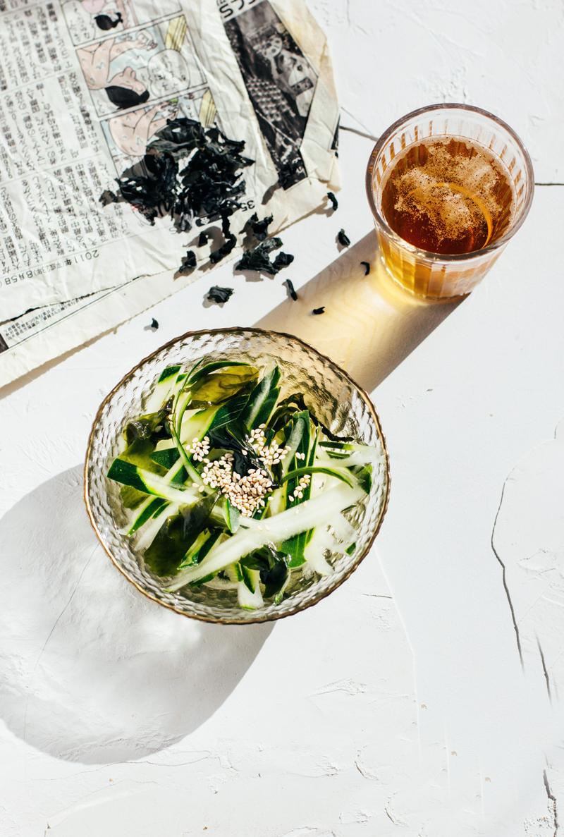 sopa fría japonesa de pepino
