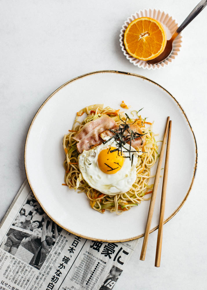fideos yakisoba para desayunar