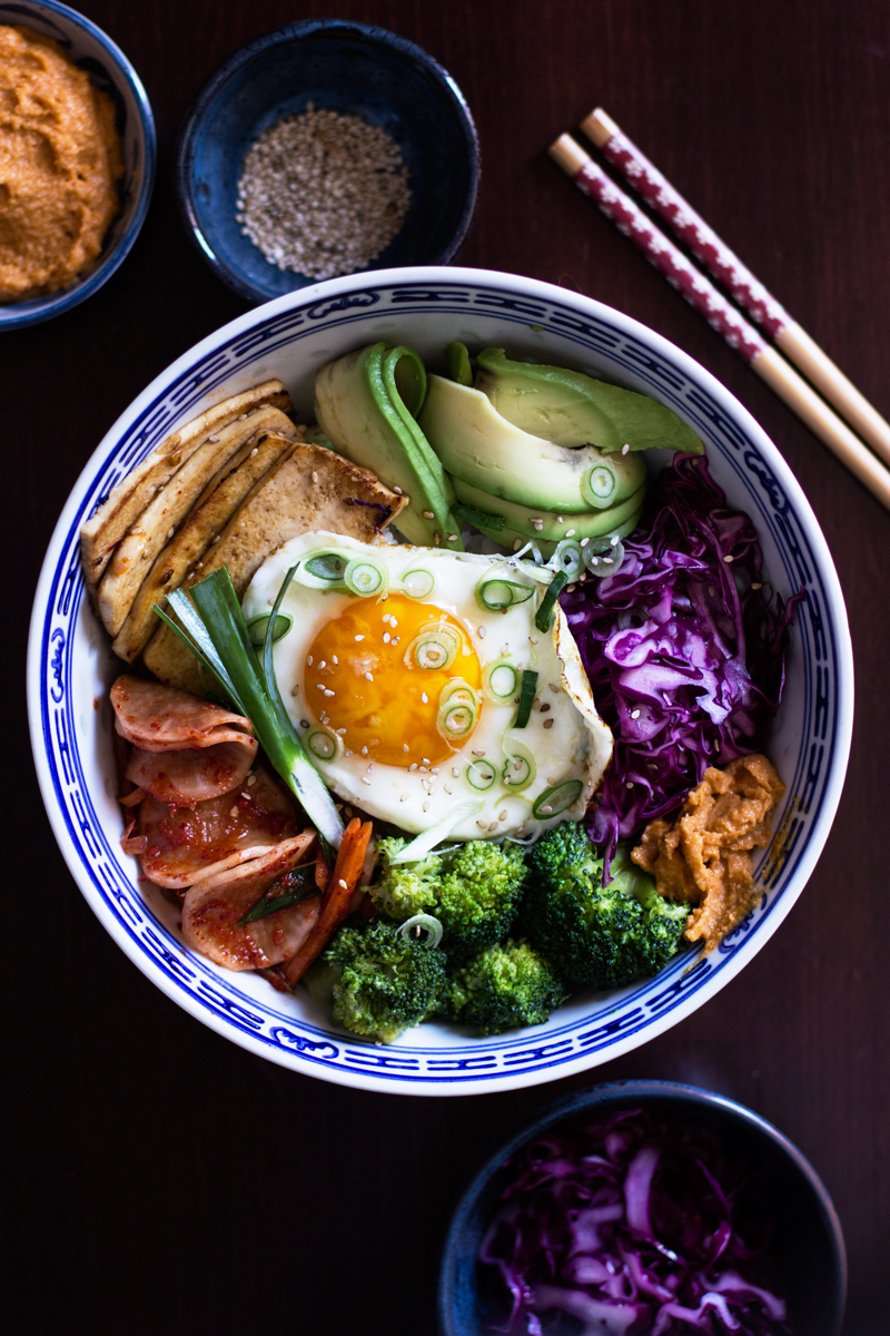 receta de bibimbap vegetariano