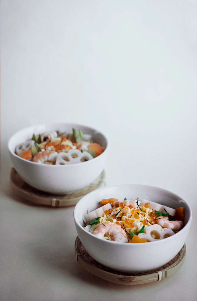 receta de chirashi sushi