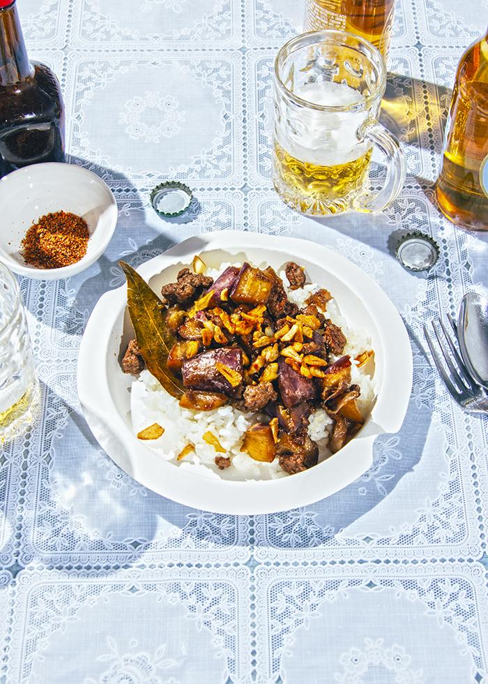 receta adobo filipino de berenjenas