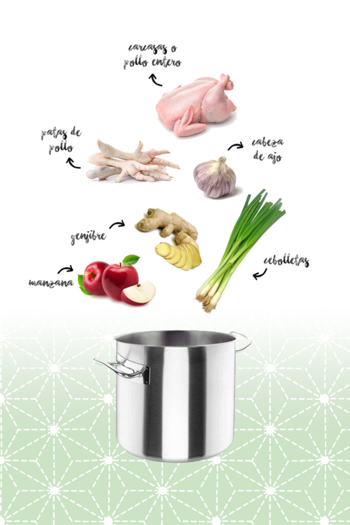 receta de caldo de pollo para ramen