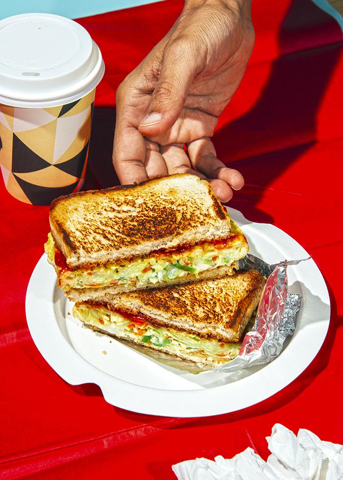 receta sandwich coreano para desayunar